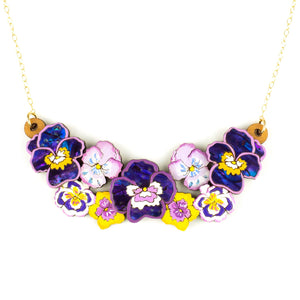 Pansy Party Necklace