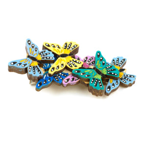 Butterfly Kaleidoscope Hair Clip in Blue