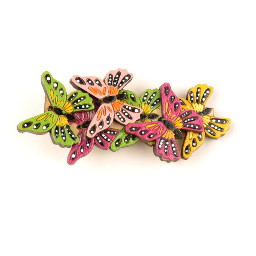 Butterfly Kaleidoscope Hair Clip in Pink