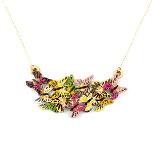 Butterfly Garden Necklace in Pink