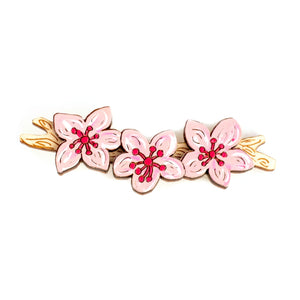 Cheerful Cherry Blossom Hair Clip