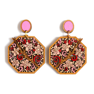 Cherry Blossom Statement Earrings