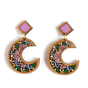 Crescent Moon Statement Earrings