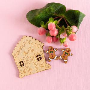 Gingerbread Stud Earrings