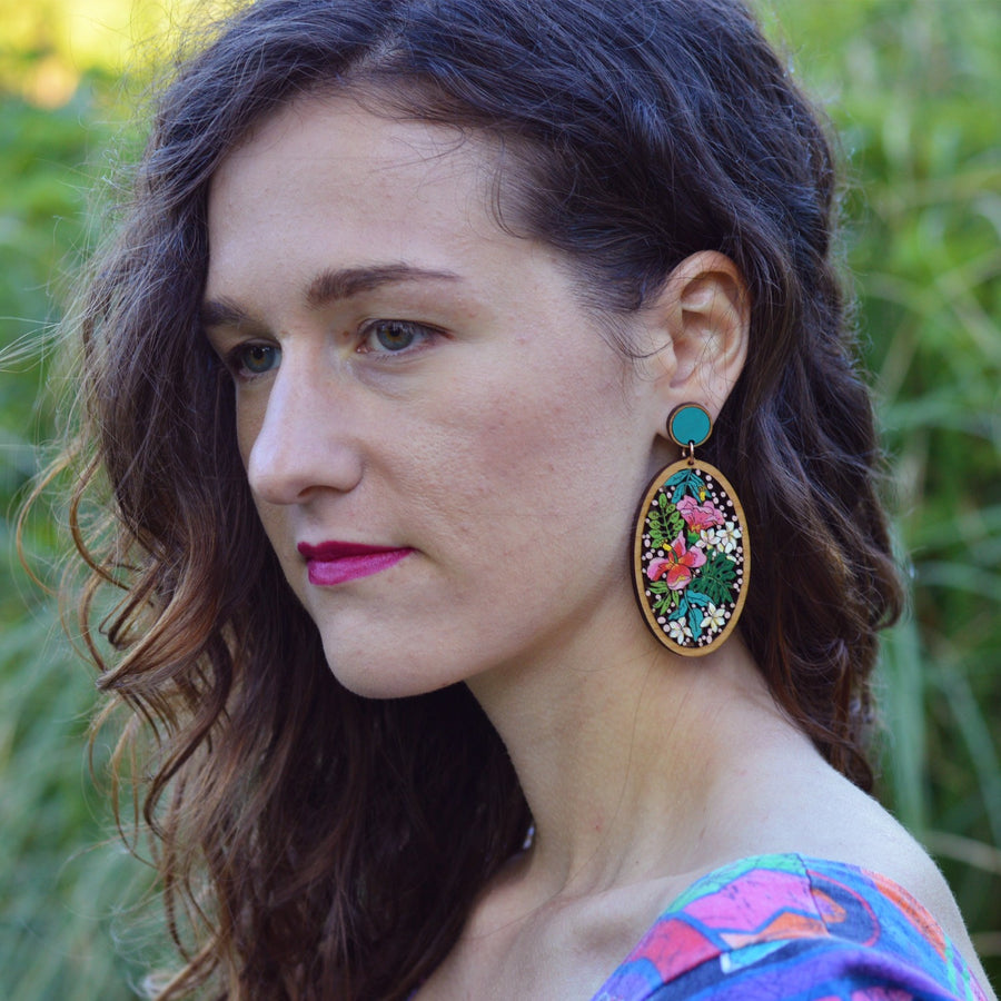 Hibiscus Statement Earrings