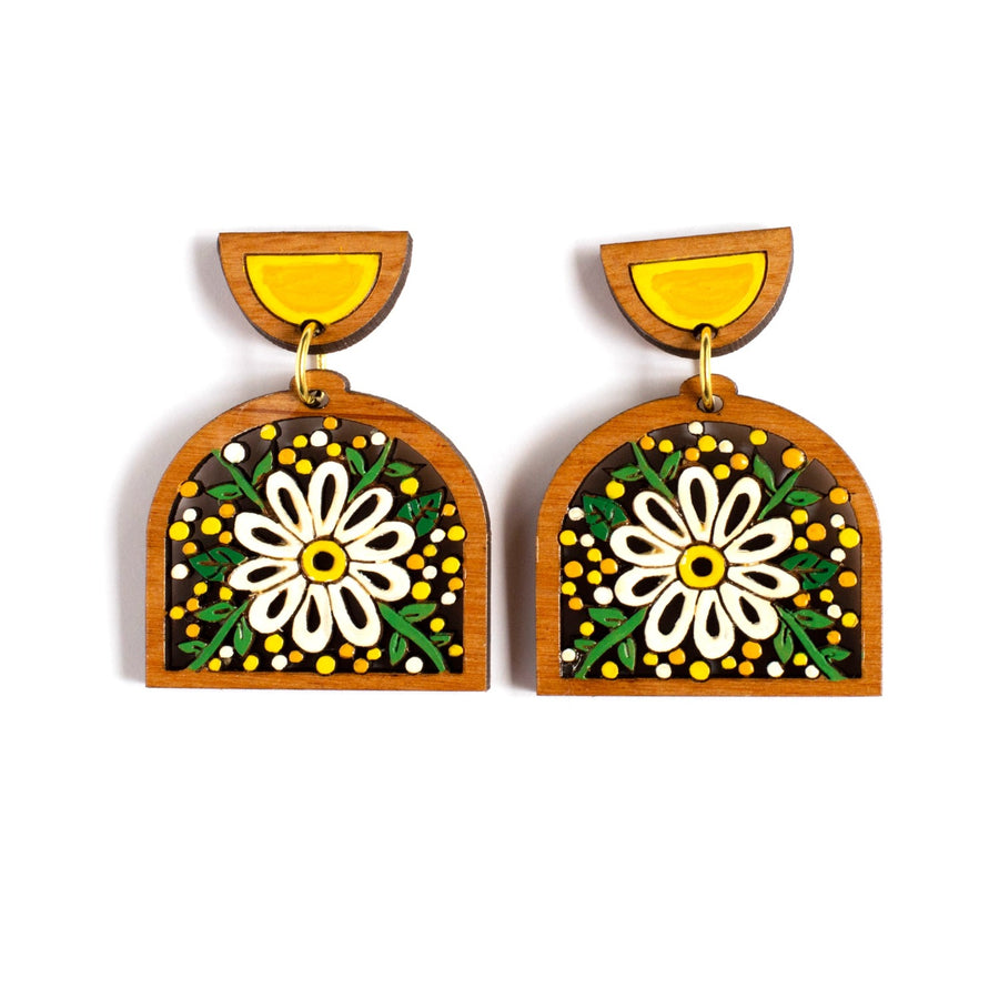 Mini Daisy Statement Earrings