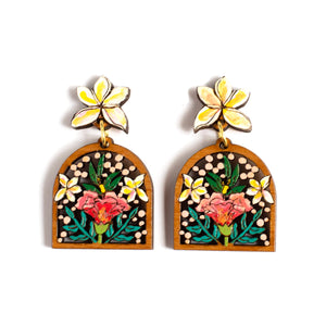 Mini Hibiscus Statement Earrings