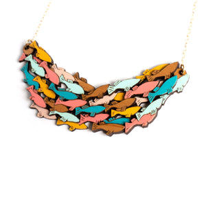School of Fish Statement Necklace