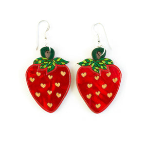 Strawberry Swing Earrings