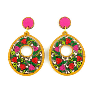 Strawberry Picnic Earrings