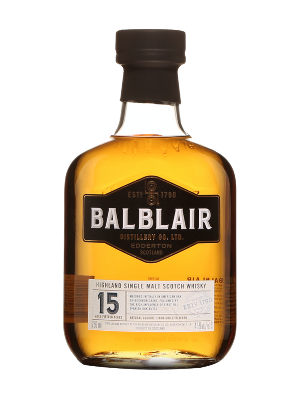 Balblair 15 Year Old Scotch Whisky (46% ABV)
