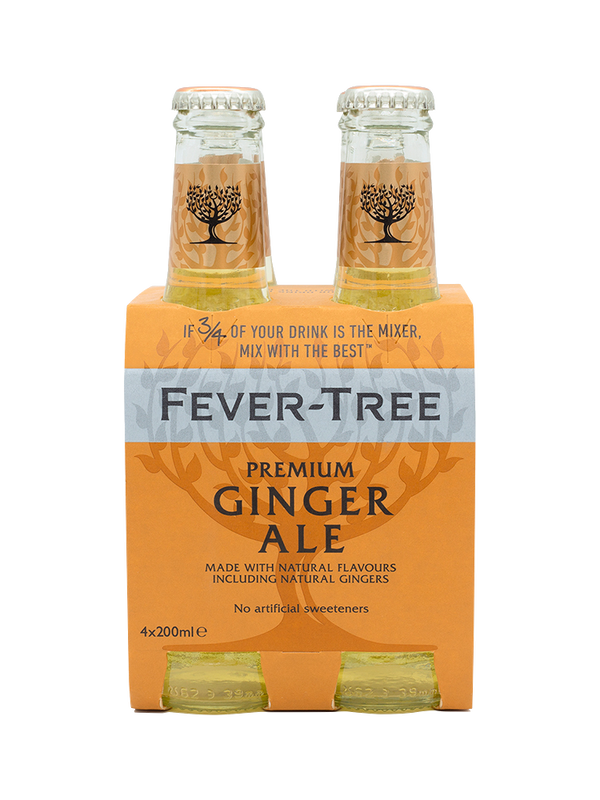 Fever Tree Ginger Ale - 4 x 200mL