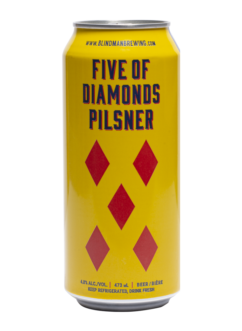 Blindman Brewing Five of Diamonds Pilsner - 4 x 473mL