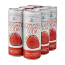 Georgian Bay Strawberry Smashed Soda 6pk