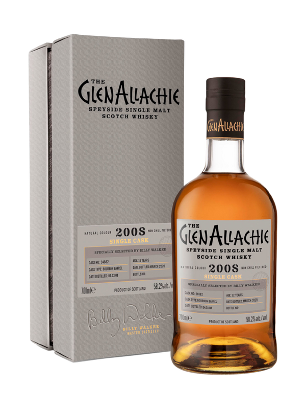 GlenAllachie 2008 12 Year Old Bourbon Cask
