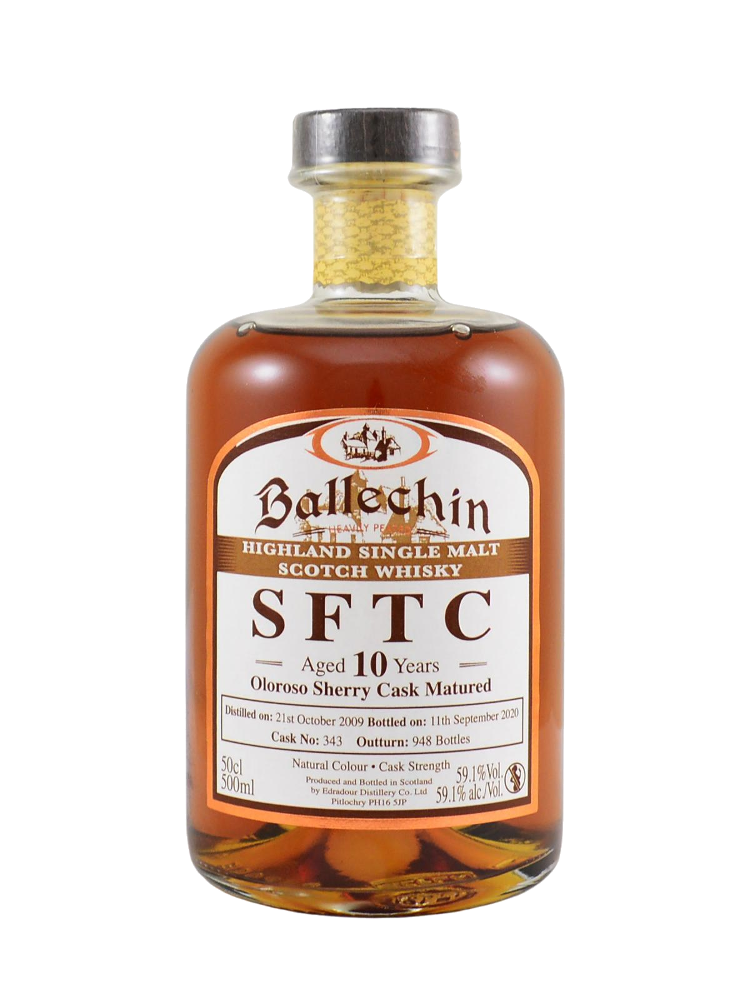 Edradour Ballechin SFTC Oloroso Sherry 10 Year Old Whisky (59.1% ABV)