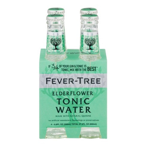 Fever Tree Elderflower Tonic Water - 4 x 200mL