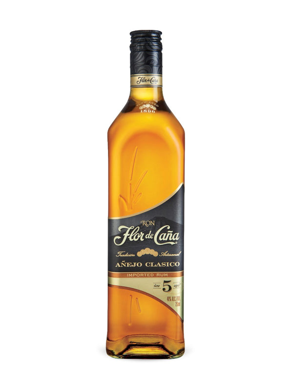 Flor De Cana Black Label Rum 5 Year Old