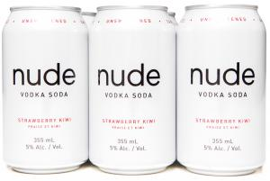 Nude Vodka Soda Strawberry Kiwi - 6 x 355mL