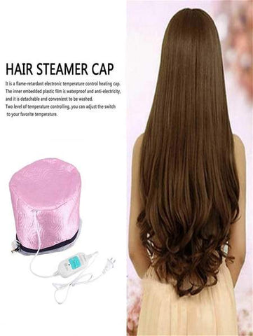 Electric Hair Heating Steamer Cap Thermal Treatment Hat Beauty SPA