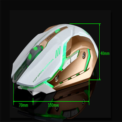 Rechargeable Wireless Silent LED Backlit USB Optical Ergonomic Gaming Mouse size details