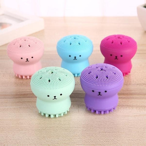 Facial Jellyfish Octopus Design Soft Silicone Exfoliator