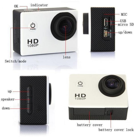 1080P Full HD Waterproof Sports DV Camera Action Camcorder Car Cam details