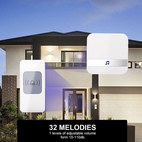 52 Chimes Remote Button Wireless Doorbell