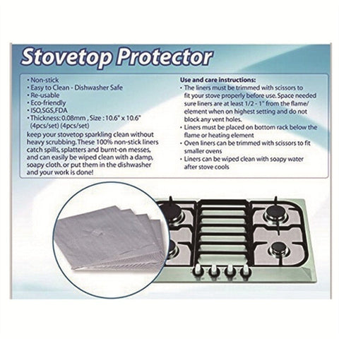 stove top protector care instruction