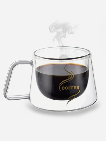Double-Wall Glass Coffee Cup