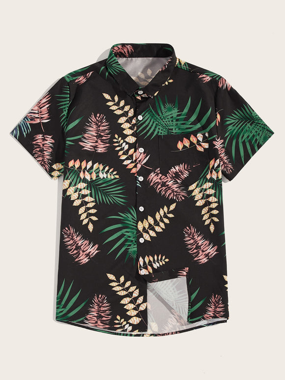 Leaf Curved Hem Shirt - ISLAND63