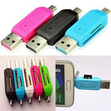 Universal 2 in 1 Micro USB OTG TF SD Card Reader for PC Phone - ISLAND63
