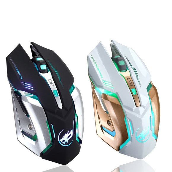 Rechargeable Wireless Silent LED Backlit USB Optical Ergonomic Gaming Mouse - ISLAND63
