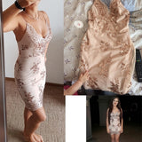 Sexy V-neck Backless Sundress Luxury Party Club Wear Mini Sequined Dress - ISLAND63