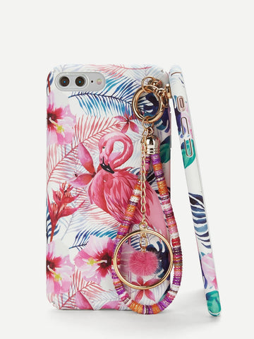 Flamingo iPhone Case With Charm