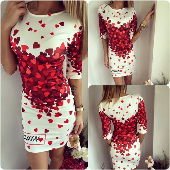 Love Heart Bodycon Dress - ISLAND63