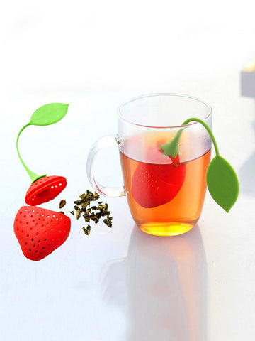 Strawberry Silicone Tea Infuser Filter