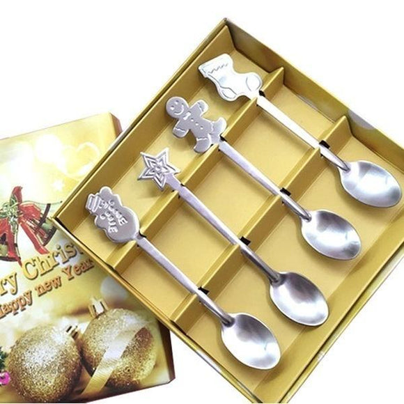 4 Pcs/Set Christmas Coffee Spoons - ISLAND63