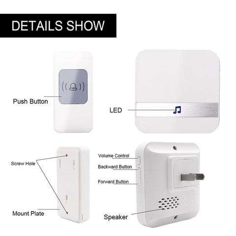52 Chimes Remote Button Wireless Doorbell product detail show