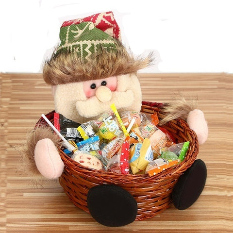 Christmas Candy Basket santa claus