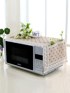 Floral Microwave Oven Dust Cover - ISLAND63