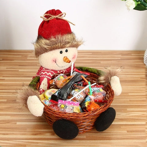 Christmas Candy Basket snowman