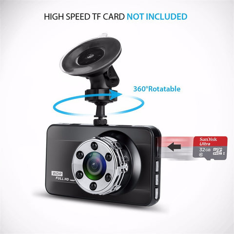 Full HD 1080P 170 Degree Super Wide Angle Night Vision Camera