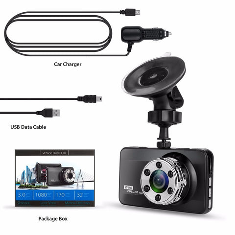 Full HD 1080P 170 Degree Super Wide Angle Night Vision Camera package