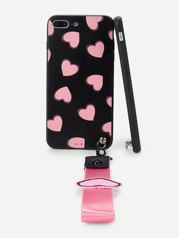 Pink Hearts iPhone Case - ISLAND63