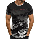 Casual Slim Fit Camouflage T-shirt - ISLAND63