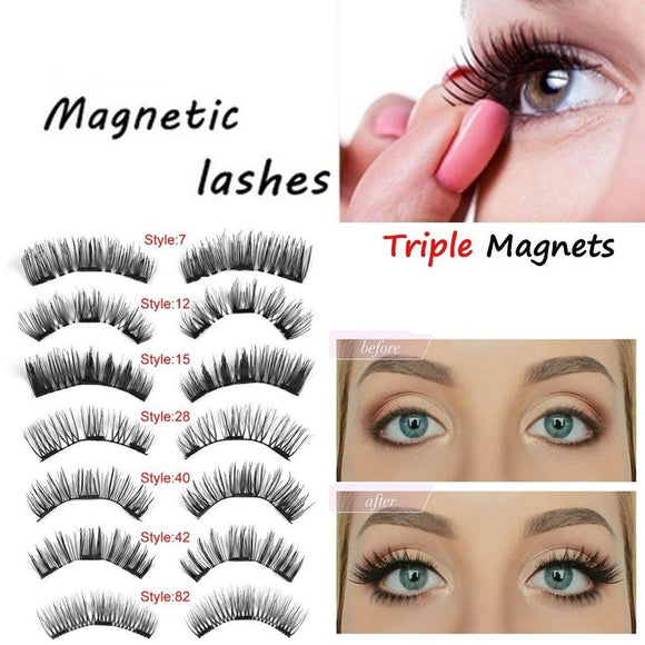 4pcs/set Magnetic False Eyelashes - ISLAND63