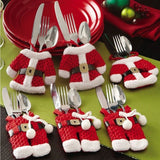 6pcs Christmas Santa Claus Silverware Holder - ISLAND63