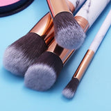10Pcs Soft Marble Makeup Brushes - ISLAND63