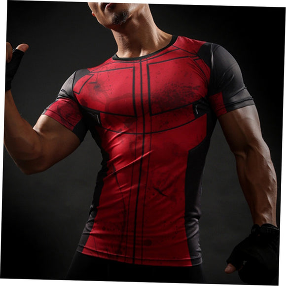 Summer Fashion Fun Deadpool 3D Fit Gym T-shirts - ISLAND63
